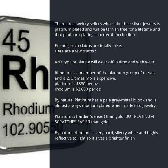 rhodium verses platinum plating: the facts NWT